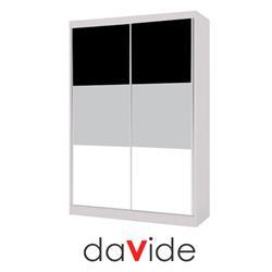 ארון הזזה 2 דלתות עם זכוכיות לקובל דגם טריו