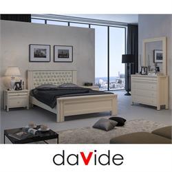 חדר שינה זוגי  קומפלט עם ראש מיטה קפיטונאז דגם  SAPIR
