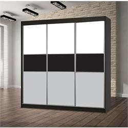 ארון הזזה 3 דלתות עם זכוכיות לקובל דגם טריו