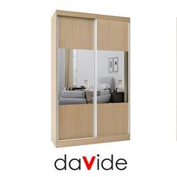 ארון הזזה 2 דלתות בשילוב מראות דגם לוגנו