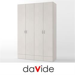 ארון בגדים 4 דלתות + 2 מגירות דגם מאור
