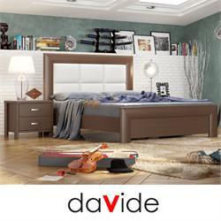 מיטה זוגית מעוצבת עם ראש מיטה מרופד  דגם PRAGUE