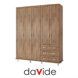 ארון בגדים 5 דלתות ו 3 מגירות   דגם YARDEN