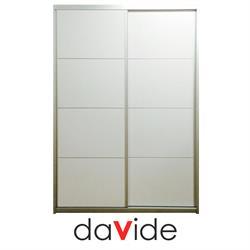 ארון הזזה 2 דלתות דגם SIMPLE  עם מסגרת אלומיניום