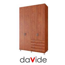 ארון בגדים 4 דלתות ו 4 מגירות דגם יהלום