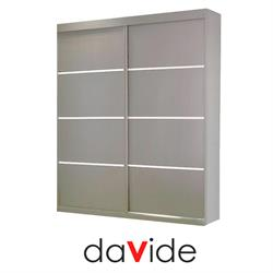 ארון הזזה 2 דלתות ברוחב 2.4 מטר מחולק ל 4 תאים  דגם SIMPLE