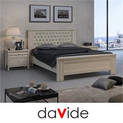 מיטה זוגית מעוצבת עם ראש מיטה קפיטונאז דגם SAPIR
