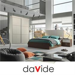 מיטה זוגית + ארון הזזה בעיצוב צעיר דגם campus