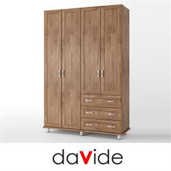 ארון בגדים 4 דלתות ו 3 מגירות  דגם YARDEN