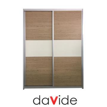 ארון הזזה 2 דלתות רוחב 1.8 מטר דגם סימפל